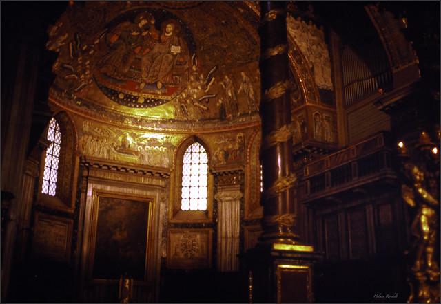 Mosaik in der Apsis von Santa Maria Maggiore
