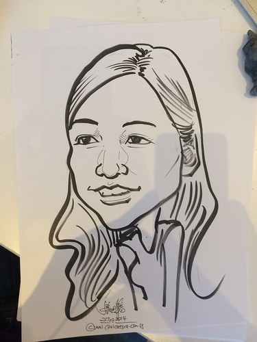 caricature live sketching for Unilever