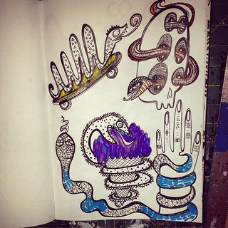 Added more snakes to my sketchbook! #doodle #crazysnakes #snakes #sketchbook #doodle #drawing #illustration