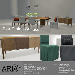 Eva dining set -PG- @ The garden!