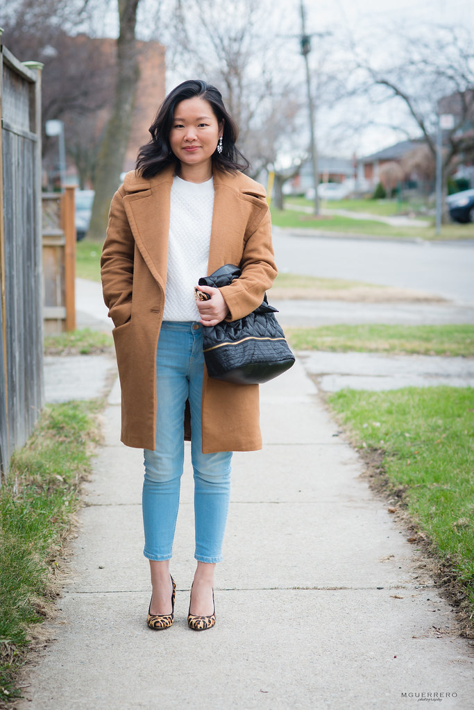 camel coat white sweater 10