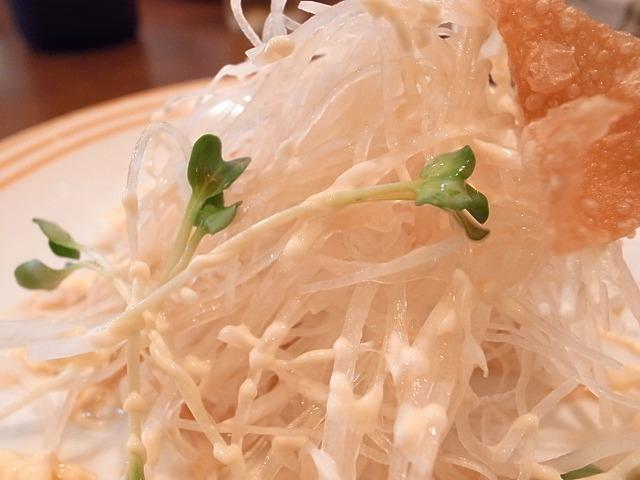 <p>麦とろ定食のサラダ</p>