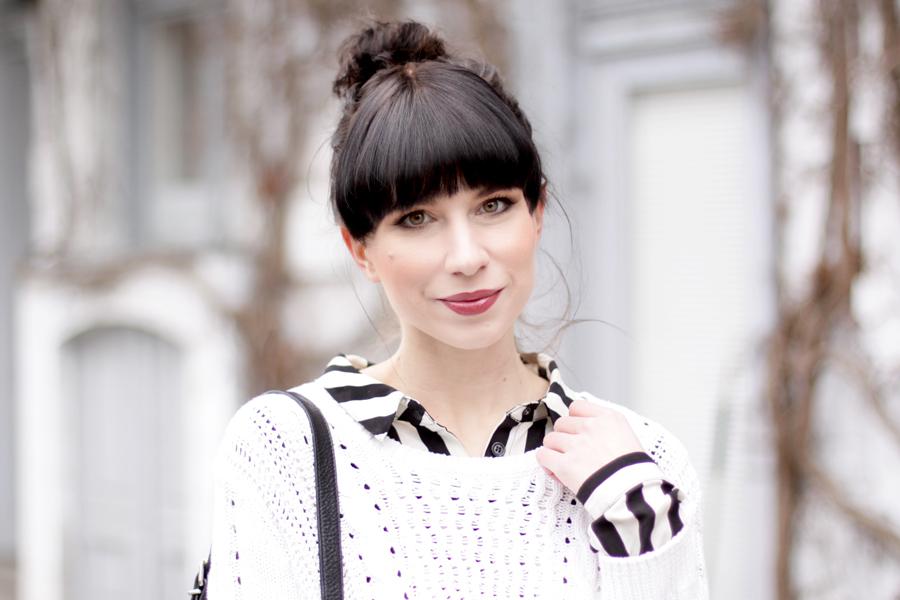 bun stripes black white outfit sacha schuhe boots proenza schouler numph minimal cute styling fashionblogger berlin hannover ricarda schernus blog cats & dogs wie hund und katze 4
