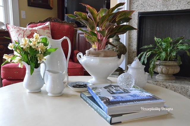 Coffee Table Vignette-Housepitality Designs