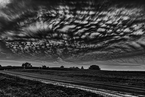 blackandwhite bw wisconsin clouds sunrise unitedstates leeds ©jrj