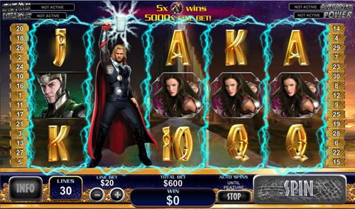 free Thor The Mighty Avenger Stacked Wild