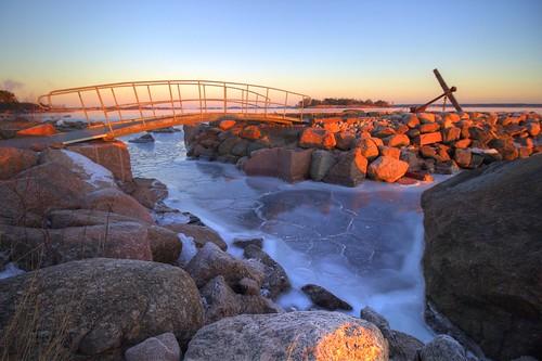 park bridge sea ice canon finland landscape eos frozen rocks sailing gulf granite katarina 1200d