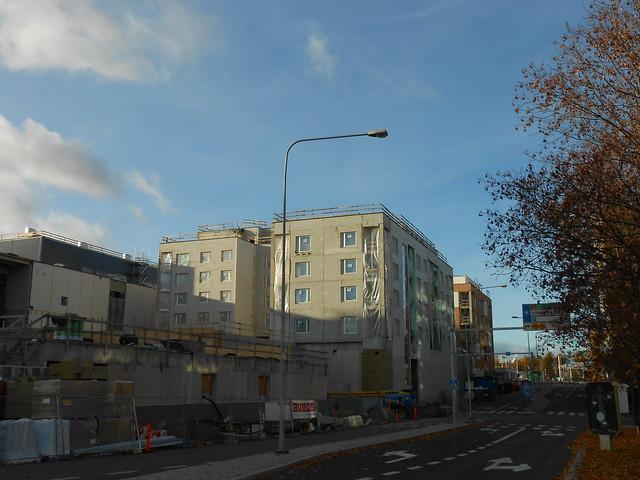 Hämeenlinnan moottoritiekate ja Goodman-kauppakeskus: Työmaatilanne 13.10.2013 - kuva 1
