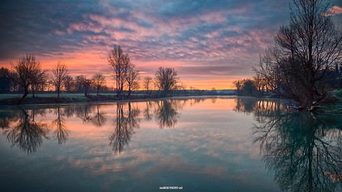 sky sun reflection nature water clouds sunrise river landscape photography dawn mirror photo europe image pics picture croatia scene hdr cro daybreak hrvatska karlovac korana rakovac