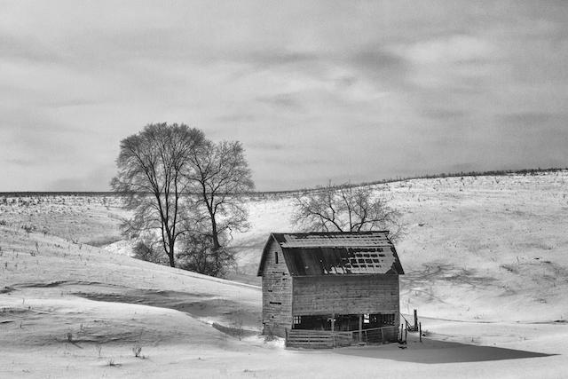 Wisconsin Barn in Winter