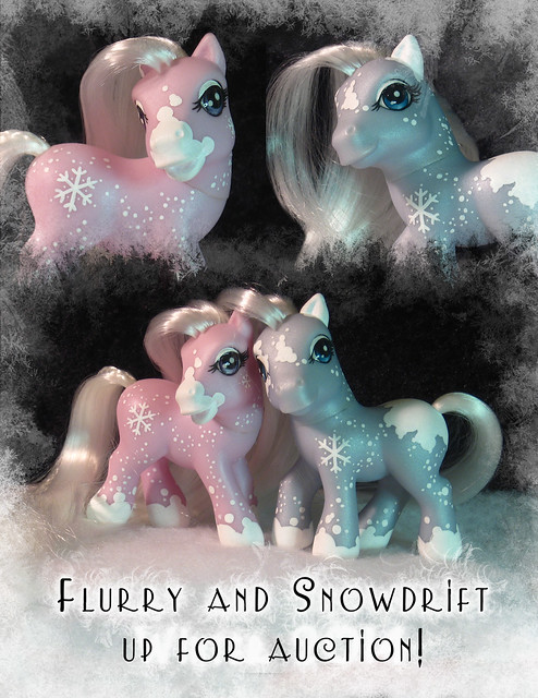 Flurry and Snowdrift my little pony customs