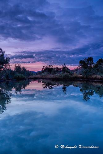 morning sunrise reservoir