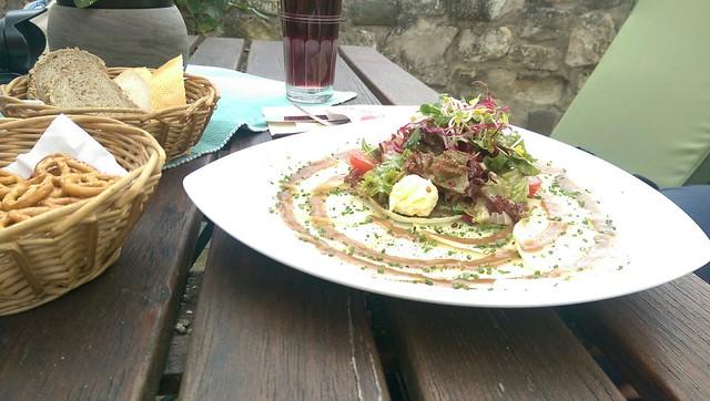 143 Spundekäs un Handkäskarpartschio ät Jordan's Untermühle #Rheinhessen