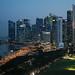 Singapore - Marina Bay and CBD at blue hour 7.30 pm