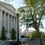 Supreme Court street view from apartment building entrance