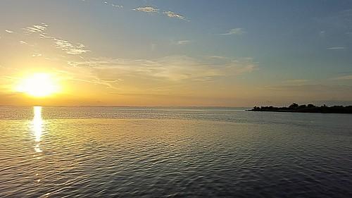 texas galvestonbay sunset
