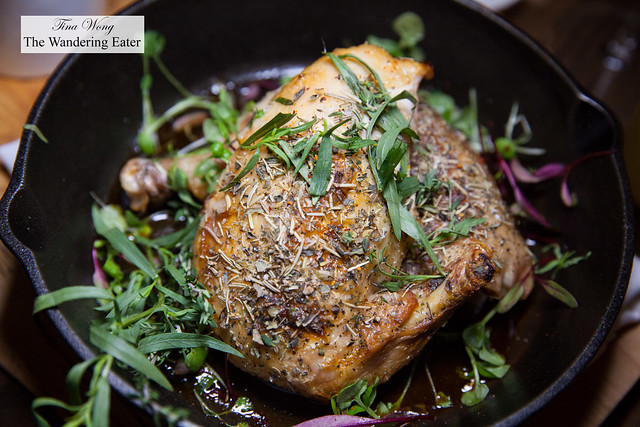Provençal chicken for one - Thyme, rosemary, garlic, preserved lemon & butter, served with butcher's fries
