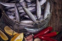 Fresh sardines with garlic, lemon and jalapeno pep…