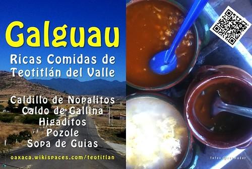 Gualguau: Ricas Comidas de Teotitlán del Valle