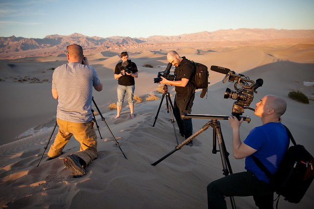 Manfrotto Be Free Tripod ad shoot BTS - Mesquite Sand Dunes