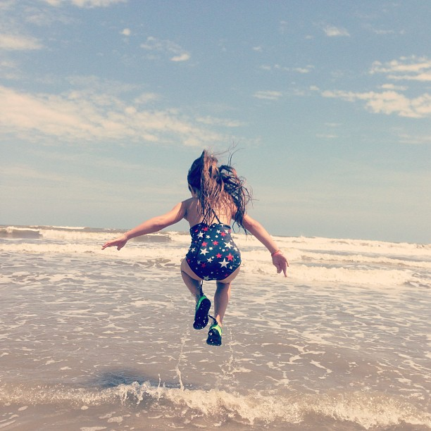 Jumping waves! #ocean #beach
