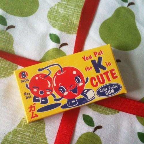 Cutie fruity gum