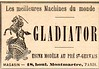 Belle époque-1897 Le petit journal ad for Gladiator machines