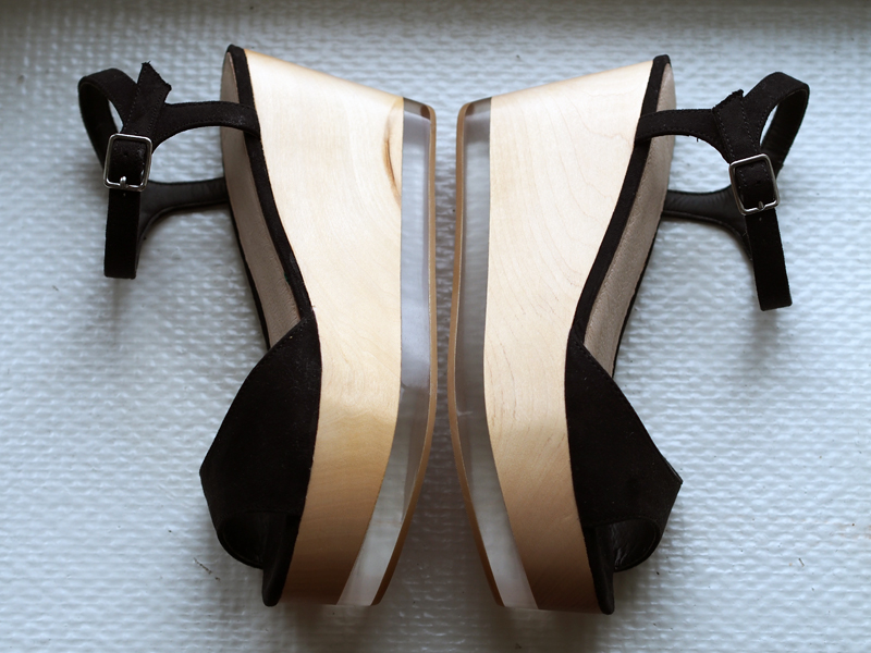 idan asos wedge heels wooden sandals