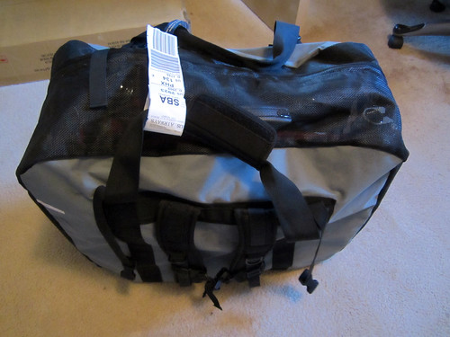 Brompton in a kayak bag