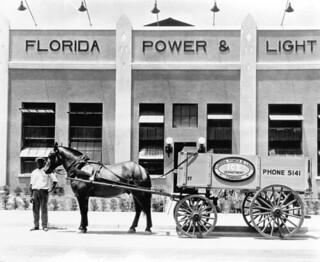 Florida Power & Light Company ice wagon: Miami, Florida