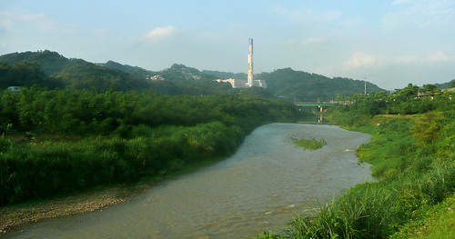 Incinerator View Behind the Jingmei River