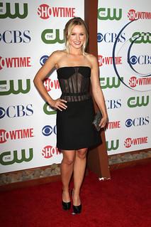 Kristen Bell Sheer Dress Celebrity Style Women's Fashion