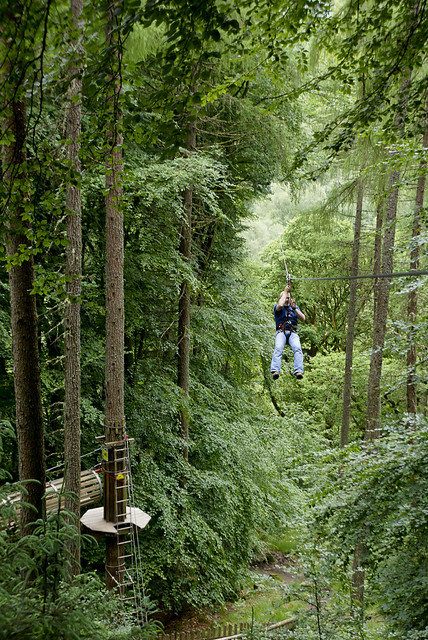 Ziplining through the treetops with Go Ape in Aberfoyle