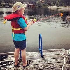 Summertime fishing.