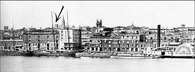 Albany Ny Skyline - 1862    1860s