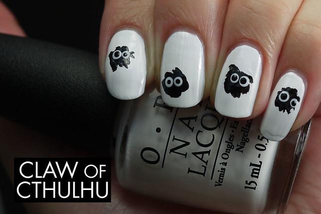 Hayao Miyazaki Universe Soot Inspired Nail Art