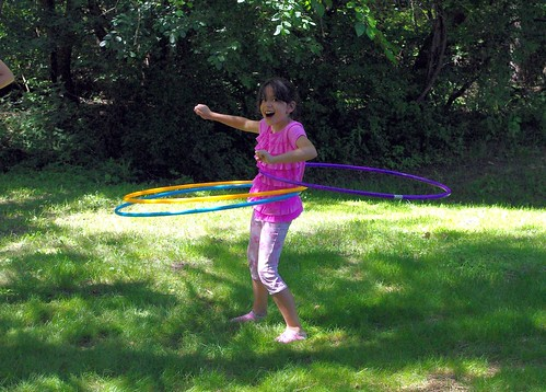 Rosie hula hooping
