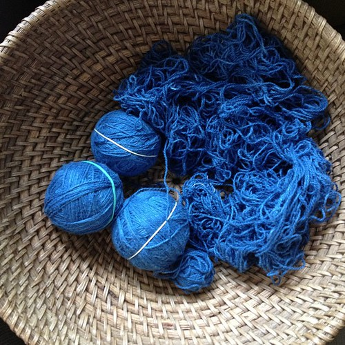 I am SO tired of untangling yarn. I can see the light at the end of the tunnel though.