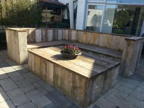 steigerhout meubel tuin