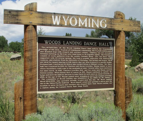 Woods Landing Dance Hall Marker (Woods Landing, Wyoming)