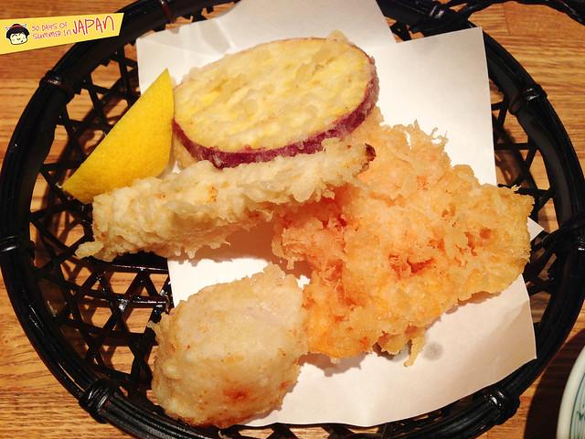 Tempura Tsunahachi - Shinjuku - Takashimaya - assorted tempura
