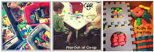 Preschool Toys and Play-Doh area on sprittibee.com