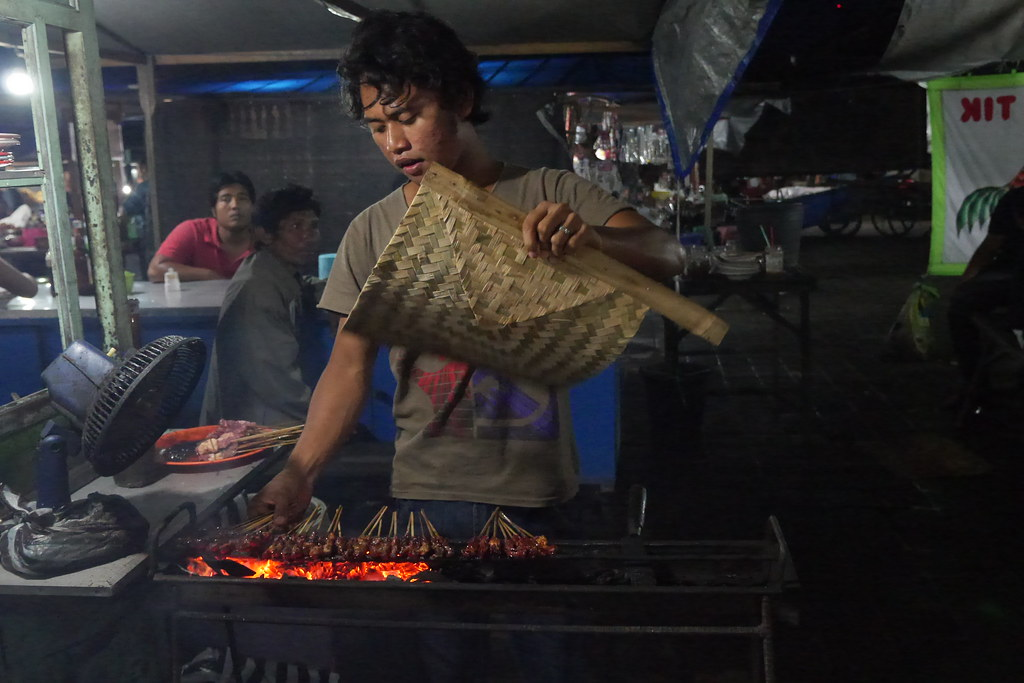 Night markets in Indonesia