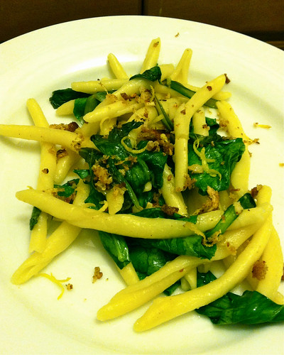 Strozzapreti with Spinach and Preserved Lemon Karyn