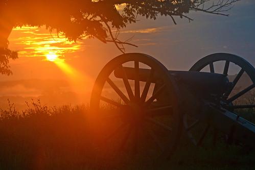 Sun rising on the Battlefield