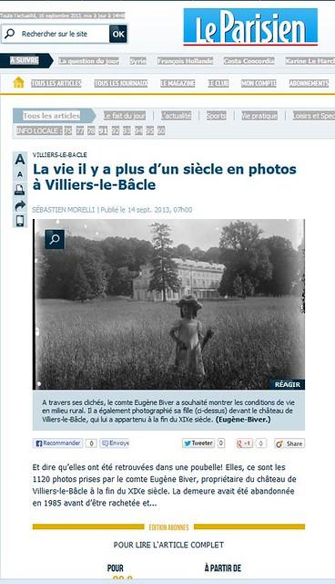 Journées du patrimoine 2013 SFP Villiers-le-Bâcle