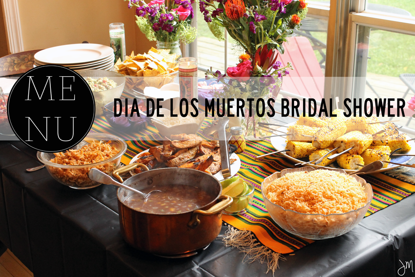 Julip Made Dia de Los Muertos bridal shower menu