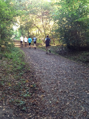 Early morning runners in Epping Forest