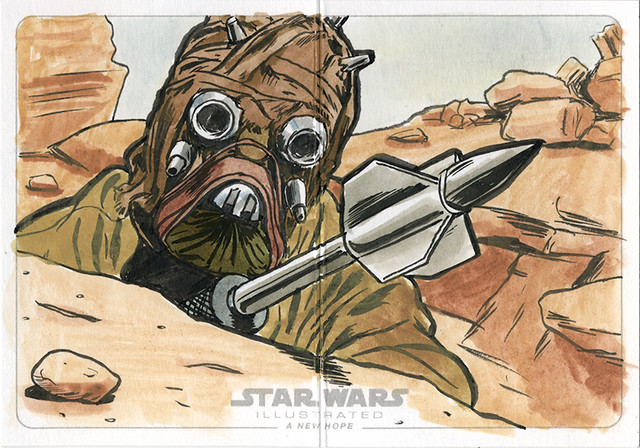 Topps Star Wars Illustrated sketch card