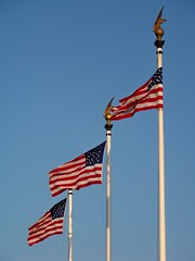 Flags outside Union Station